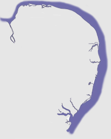 Norfolk and Suffolk map